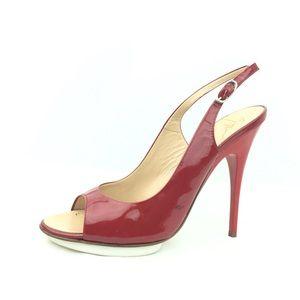 Giuseppe Zanotti Heels Stiletto Oxblood Patent